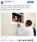 """Ce tweet de Barack Obama sur Charlottesville est le plus """"liké"""" de l'histoire de Twitter"""