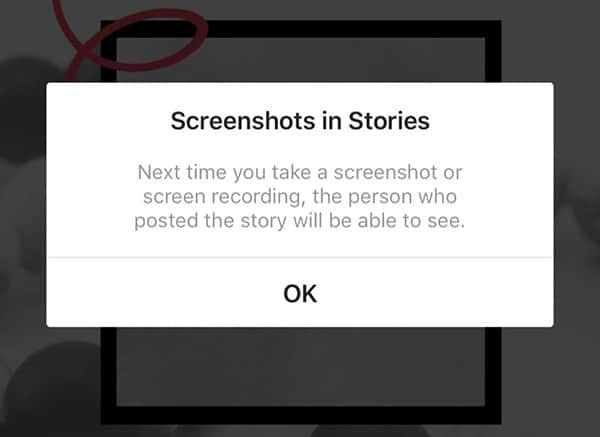 Comment continuer à faire des captures d'écran sur Instagram ?